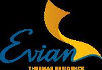 Evian logo azul
